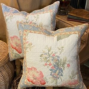 Faded Flowers Quilted Pillow (2 of 2)